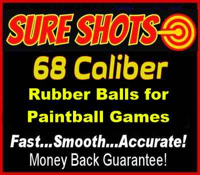 68 Caliber Rubber Balls for Paintball